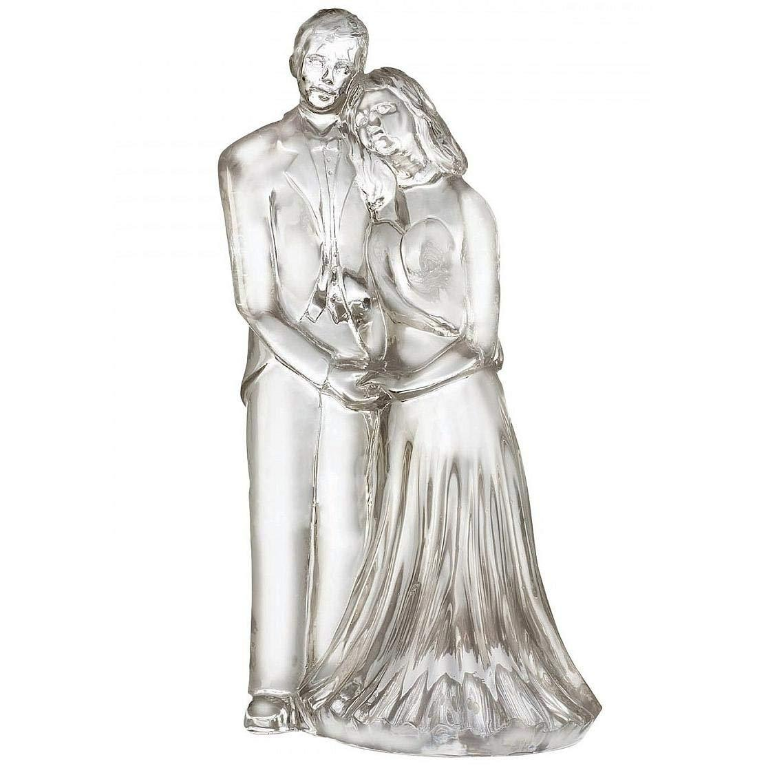 """WATERFORD LEAD CRYSTAL 7"""" HT SCULPTED BRIDE & GROOM FIGURINE MADE IN IRELAND NEW - $344.75"""