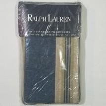 Ralph Lauren 200 Thread Count 100% Cotton 2 Standard Pillowcases Whitman... - $29.69