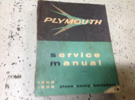 1955 1956 Plymouth Plaza Savoy Belvedere Service Shop Repair Manual FACT... - $22.72