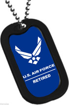 USAF AIR FORCE  RETIRED  ENGRAVABLE DOG TAG - $18.04