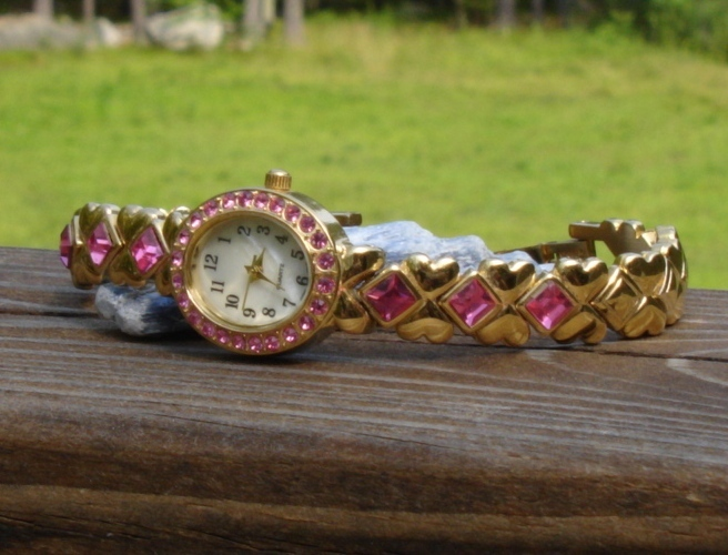 Pink and Gold Ladies Watch