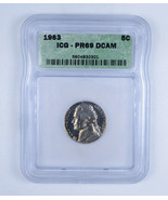 1963 Jefferson Nickel 5c PR69 DCAM - $175.00