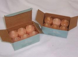 PartyLite Vanilla Peach Votive Candles New Box of 6 V06306 - $12.82