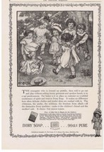 1916 Ivory Soap Children Playing Ring Around the Rosie Artwork by CM Burd  - $9.99