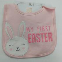 My First Easter Infant Baby Teething Bib Pink Water Resistant - $9.90