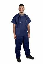 10 pcs Blue Disposabl Polypropylene Set of Pants and Shirts 55 GSM Medium - $31.35
