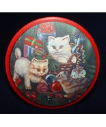 "Dansk Holiday Christmas Cookie Tin ""Kittens Playing with Christmas"" - $7.59"