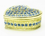 Blue Heart Trinket box  hand made by Keren Kopal & Austrian crystals Faberge