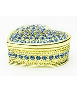 Blue Heart Trinket box  hand made by Keren Kopal & Austrian crystals Fab... - €35,48 EUR