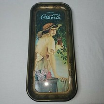 Coca Cola Tray Elaine Antique Girl With Flower Basket WW1 advertisment 1972 - $13.47