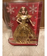 New in Box Mattel Christmas 2020 Holiday Signature Barbie Doll Blonde Go... - $25.73