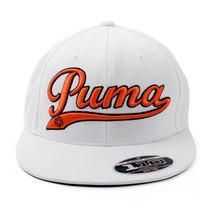 Puma Script Cool Cell Snapback Cap, White/Orange 908330 MSRP $28 - $14.95
