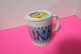 Carolina Ceramic Coffee Tea Mug Cup With Lid Keep Your Mug Off The Table - $13.95