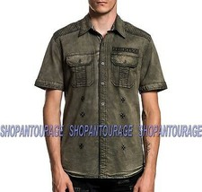 Affliction Reprieve 110WV772 New S/S Fashion Button-Down Woven Shirt For Men - $70.56