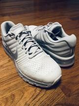 Nike Air Max 2017 Running Shoes Platinum White Grey 849560-009 Women's 12 M 10.5 - $128.70