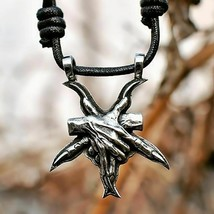 Stainless Steel  Pentagram Silver Color Necklace Pendant Accessory Fashi... - $10.34
