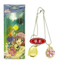 Shugo Chara Concentric Lock Modelling Lovers Pendant Necklace  pink - $7.06