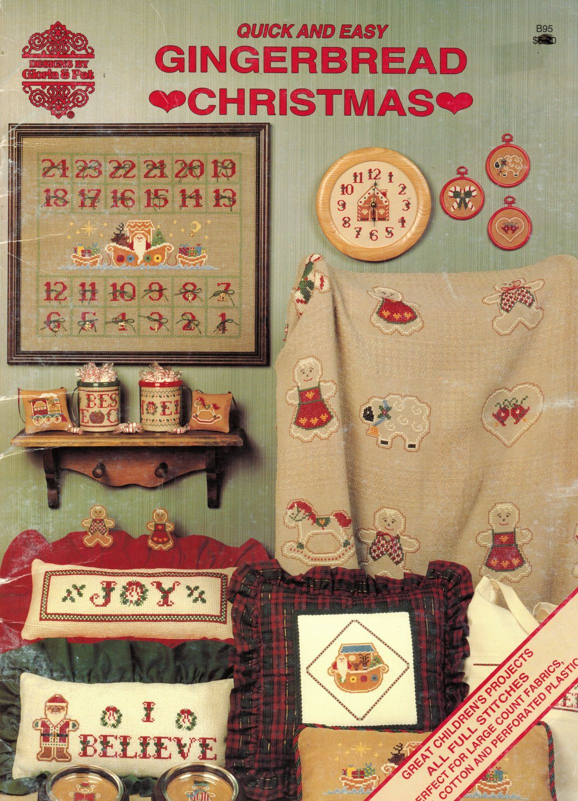 Primary image for Cross Stitch Perforated Plastic Gingerbread Christmas Gloria & Pat Patterns