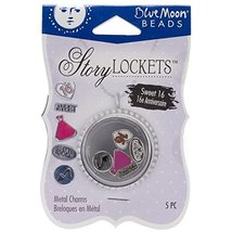 Blue Moon Beads Story Lockets Metal Charm, Sweet 16, Assortment, 5-Pack - $3.89