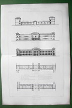 ARCHITECTURE PRINT : France Asylum in Braqueville at Toulouse Facades - $16.20