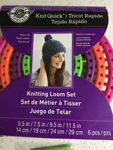 Knit Quick Knitting Loom Set by Loops & Threads Set of 4 Looms New - $11.06 CAD