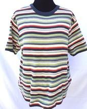 Eddie Bauer Women's L Striped Crewneck Pullover Sweater Knit Shirt Top B... - $14.49