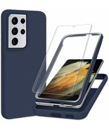Samsung Galaxy S21 Ultra Case with Screen Protector 1 Pack TPU Rugged PC... - $19.78
