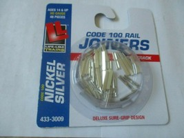 Life-Like # 433-3009 Nickel Silver Rail Joiners Package of (48) HO Scale image 2