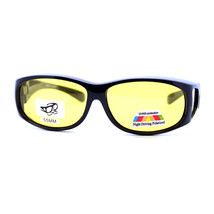 Fit Over Small Glasses Foggy Gloomy Weather Yellow Lens Sunglasses - $10.95