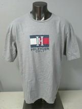 Mens Tommy Hilfiger Gray Golf Themed T Shirt Short Sleeve Size XL Cotton Vintage - $29.69