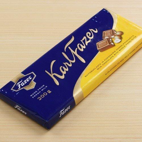 Karl Fazer Milk Chocolate Bar with Whole Hazelnuts (7 ounce)