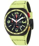 Montres De Luxe Milano Men's BK5503 Black Avio Genuine Leather Date Chro... - $318.25