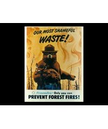 SMOKEY BEAR POSTER | 24 x 36 INCH | ONLY YOU CAN - £15.83 GBP