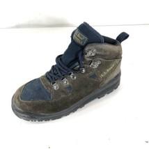 LL Bean Merrell Boots Womens X659 Hiking Trail Brown Blue Suede SZ 7 M - $14.84