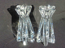 Pair of Lenox Crystal Star-Shaped Candle Holders - Heavy - $29.99