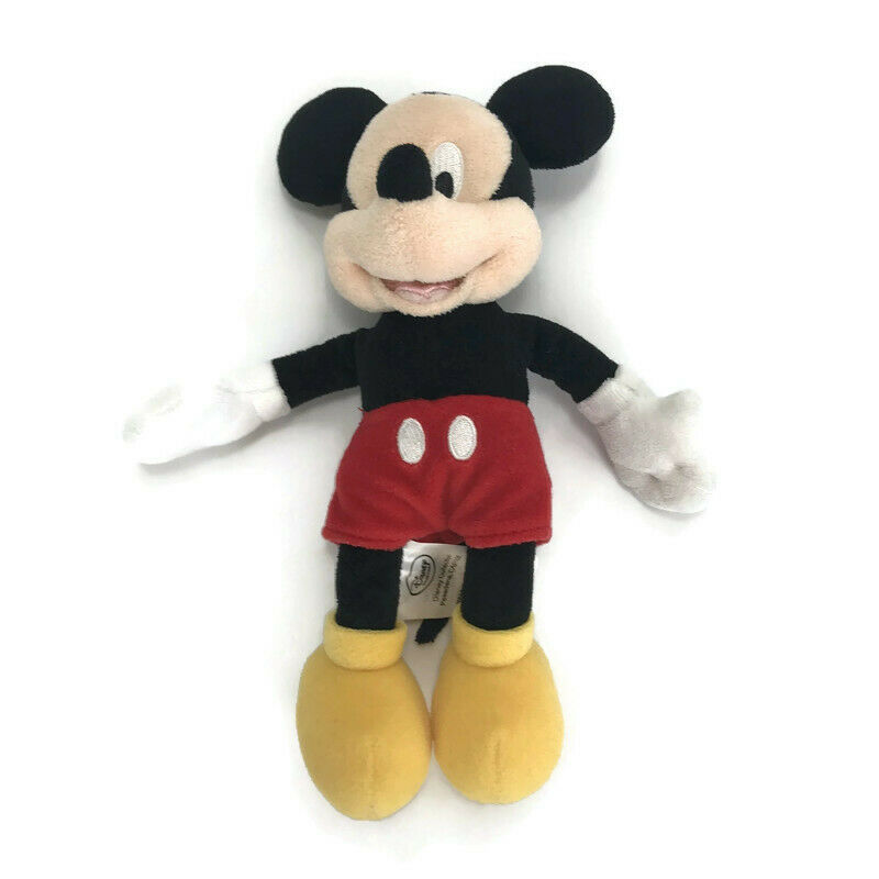 "Mickey Mouse Disney 10"" Inch Tall Bean Bag Stuffed Animal Plush Doll Toy Gift"