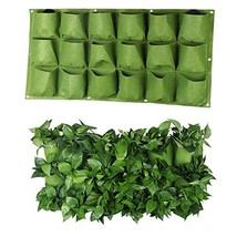 S&F Wall Planter Holder 18 Pockets Wall Hanging Planter Garden Grow Bags... - €17,15 EUR