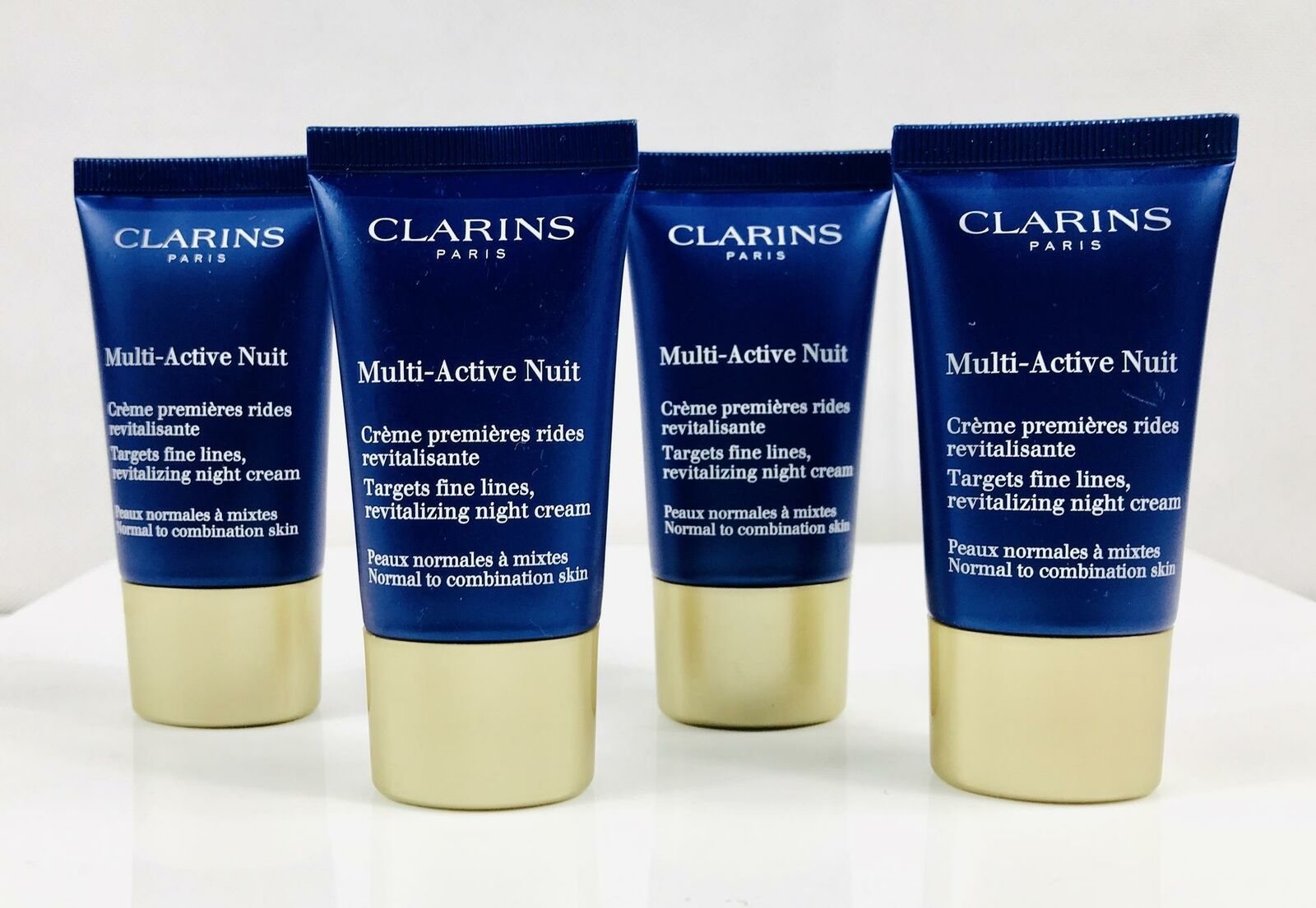 CLARINS Multi-Active Nuit Targets Fine Lines All Skin 2 oz (4x0.5) Sealed Unbox - $13.93