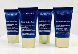 CLARINS Multi-Active Nuit Targets Fine Lines All Skin 2 oz (4x0.5) Unboxed - $15.83