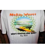Makin Waves Offshore Powerboat Racing T-Shirt Large Only - $19.50