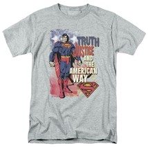 Superman T-shirt Truth,Justice & American Way retro DC comics tee SM1019 image 1