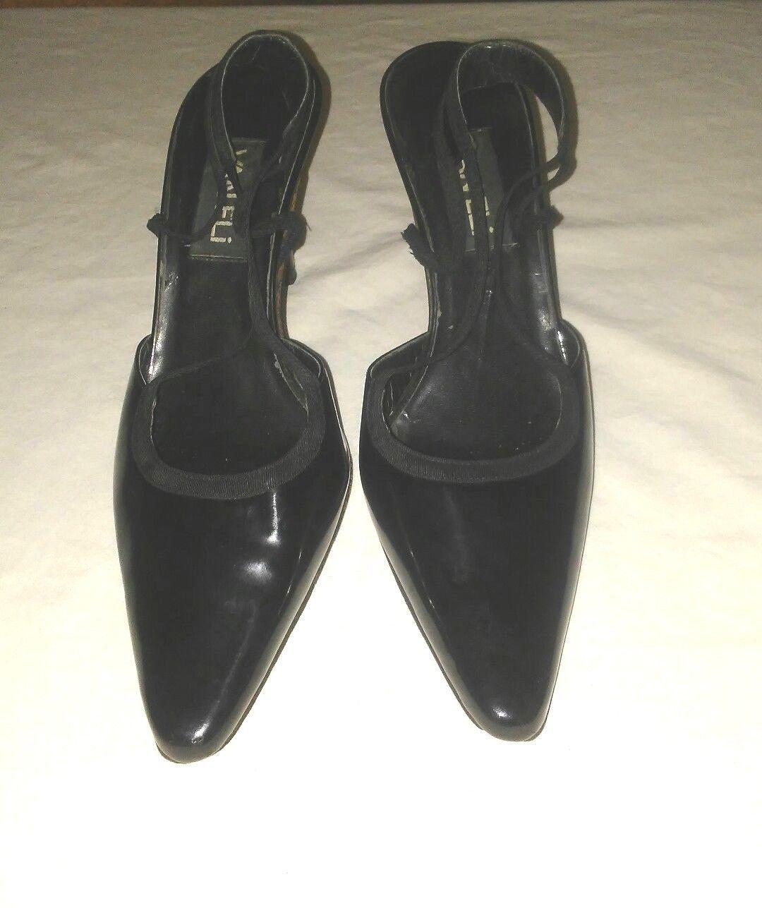 084dcbd3a39 Vaneli Black Patent Leather Women Heels and 50 similar items