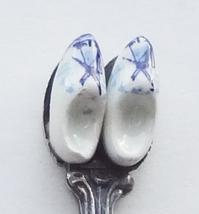 Collector Souvenir Spoon Netherlands Dutch Delft Clogs Shoes 3D Figural - $14.99