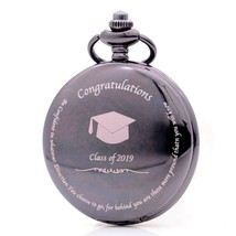 Class of 2019 Graduation Pocket Watch, Bronze Vintage Quartz Pocket Watc... - €14,06 EUR