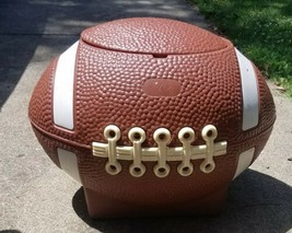 Little Tikes Football Toy Box VINTAGE Storage Tailgate Cooler HamperMan... - $128.69