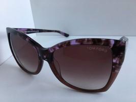 acb5db934064 New Tom Ford Carli TF 295 55Z 57mm Purple Oversized Women  39 s Sunglasses