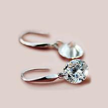 925 Sterling Silver Swarovski Crystal Elements 8mm Cubes Fish Hook Earrings - $9.79