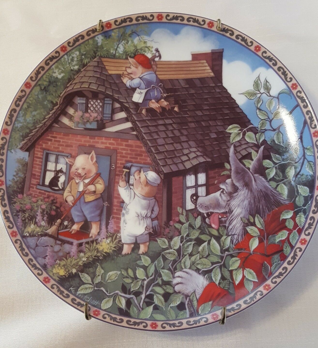 Primary image for Edwin Knowels  1988 Collector Plate Three Little Pigs 1988