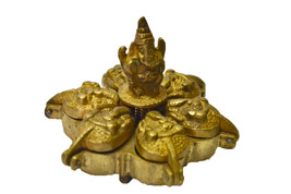 Sinduhr Ganesh Box with Unique Brass Carving - $7.00