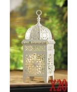 SET OF 20 White Scrollwork Filigree Birdcage Candle Lanterns Wedding Cen... - $189.99